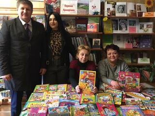 Пополнение фондов. Сотрудничество команды ВО «Батьківщина» с библиотеками города