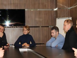 Ольга Бабенко провела совещание с членами своей команды