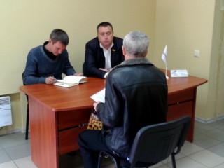 В Дзержинском районе состоялся прием граждан