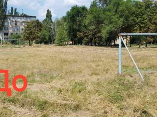 Футбол на траве в человеческий рост?