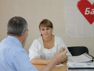 Ольга Бабенко провела выездные приемы граждан Долгинцевского и Терновского районов