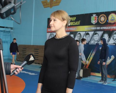 Спорт с характером. Ольга Бабенко – на открытии турнира по греко-римской борьбе