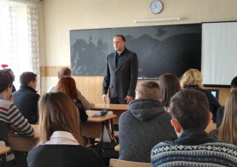 Военный историк рассказал старшеклассникам об освобождении Кривого Рога от фашистов
