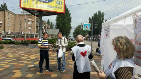 В выходные дни депутаты Металлургического районного совета также организовали работу открытых общественных приемных партии «Батьківщина»