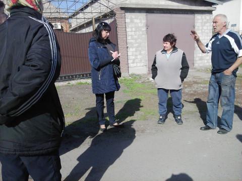 Встреча Натальи Ярковской и Елены Шевченко с жителями улицы Машиностроительной