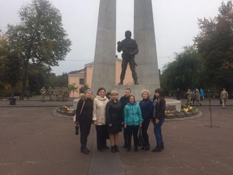 Памяти воинов. Торжественное мероприятия у монумента в Терновском районе