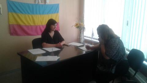 Помощник депутата Саксаганского райсовета провела приём граждан