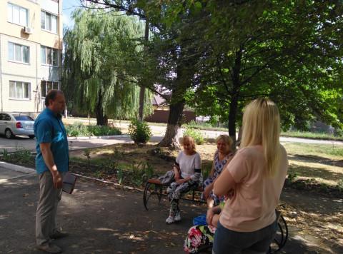 Во дворе на Алмазной. Депутатская встреча с жителями