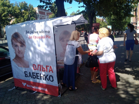 В выходной субботный день волонтеры активно агитировали на улицах города