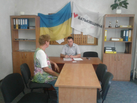 Депутат Терновского райсовета Сергей Кривошеи провел плановый прием граждан