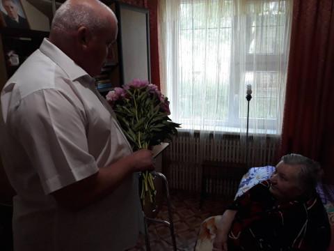 Ігор Кріворотній привітав ветерана Великої Вітчизняної війни з 90-річчям