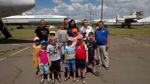 Воспитанники спортивного клуба побывали на экскурсии в авиаколледже