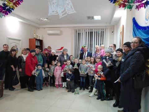 Депутаты поздравили с новогодними праздниками детей активистов «ЗА РІДНЕ МІСТО»