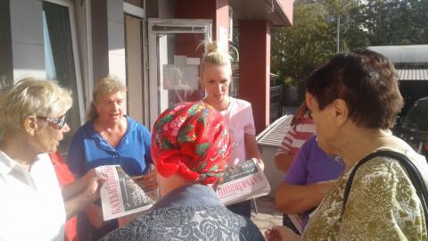 Жители Саксаганского района получили новый выпуск газеты «Батьківщина»