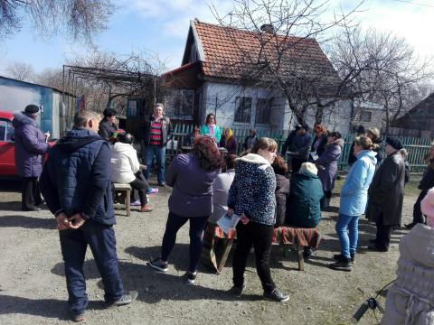Представители «ЗА РІДНЕ МІСТО» провели отчетную встречу  в поселке Беляево