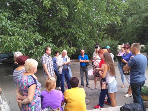 Встреча жителей улицы Лисового с Игорем Вовкозубом