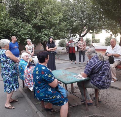 Состоялась выездная встреча с жителями Долгинцевского района на мкрн. Восточный-1