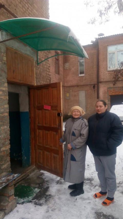 При содействии депутата от  ВО «Батьківщина» установлена дверь в подъезд
